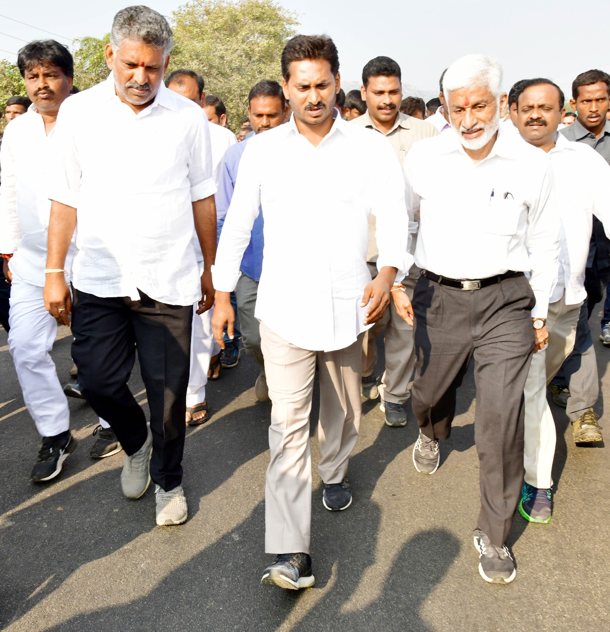 Participated in the Praja Sankalpa Yatra of Sri YS Jagan