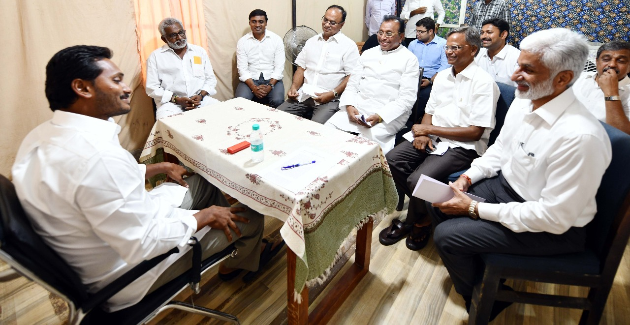 Parliamentary Party meeting of YSRCP chaired by Sri Y S
